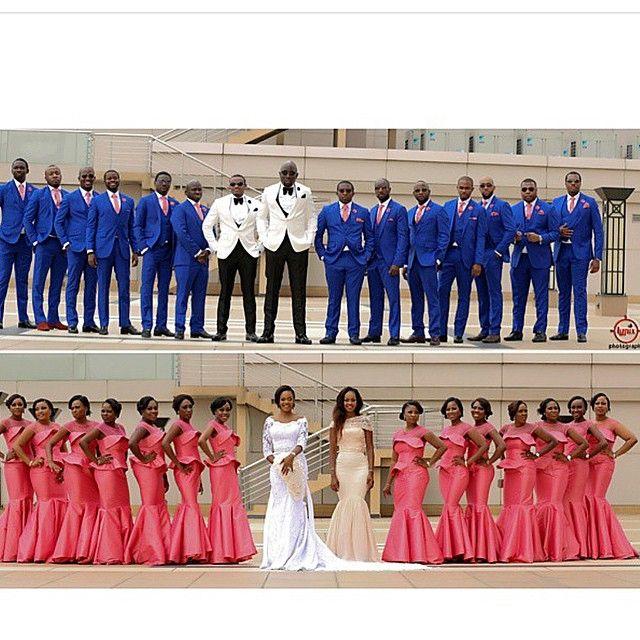 Beautiful bridal party ! Photo by @lypixphotography #NWBridalParty #NigerianWedding #Lolarin2015