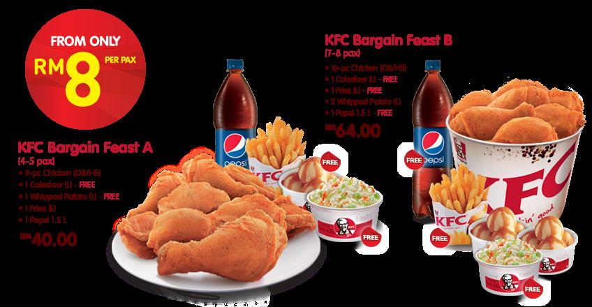 Kfc Bargain Feast Malaysian Foodie Kfc Chicken Bucket Chicken Menu