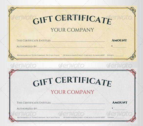 Free 64 Sample Gift Certificate Templates In Pdf Psd Ms Pertaining To Company Gift Certificate Template Gift Card Template Free Gift Certificate Template