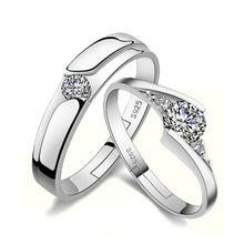 Homem de Prata Presente do Dia dos namorados-cor Elegante Mulheres Anéis  Redimensionáveis Anéis Dos 1e8c950098