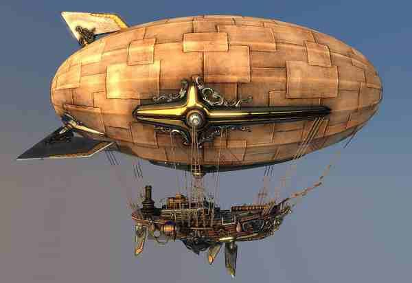 Image result for steampunk zeppelin