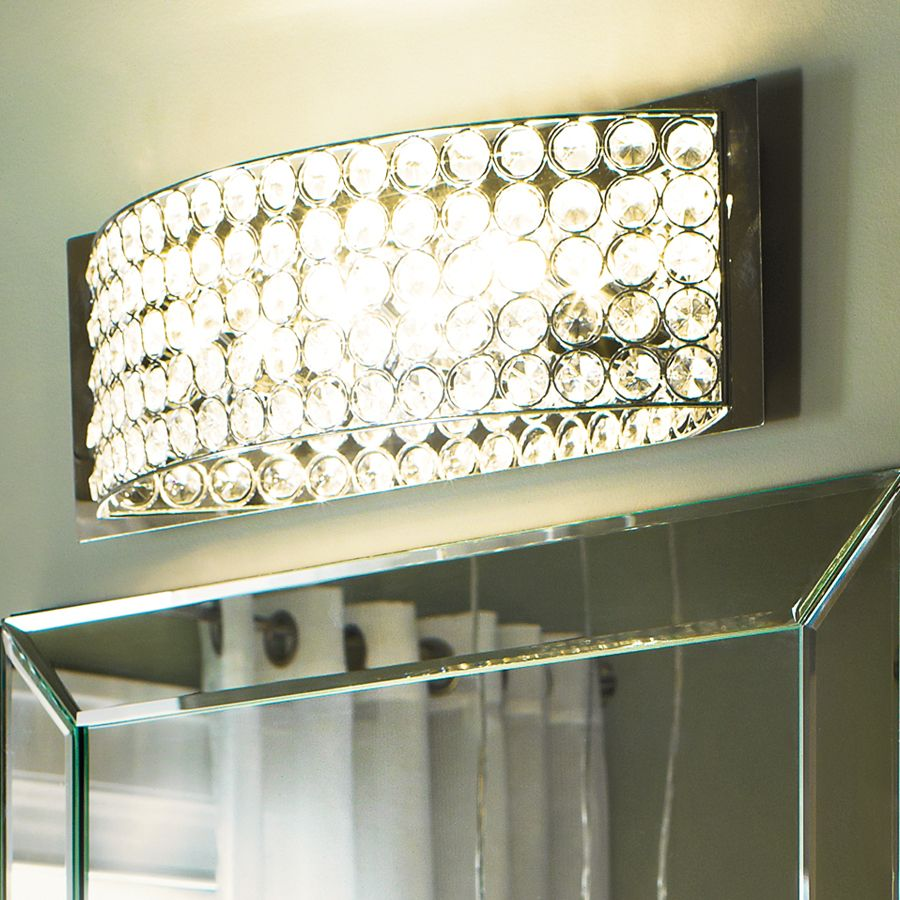 Vanity Lights Lowes Extraordinary Shop Kichler Lighting 4Light Krystal Ice Chrome Crystal Bathroom Design Inspiration