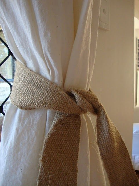 Pair This Burlap With White Sheer Curtains Instead Shabby Chic