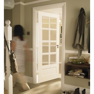 Contemporary Glazed Solid Internal Door 8 Light - 762mm wide from Homebase .co.uk & Contemporary Glazed Solid Internal Door 8 Light - 762mm wide from ...