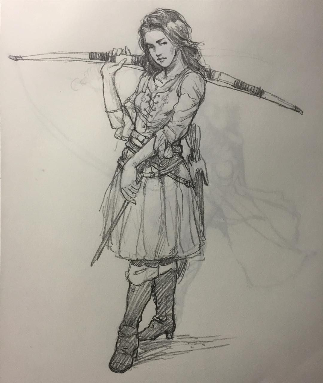 Badass Archer Sketch Pencil Pencildrawing Drawing Art Archery