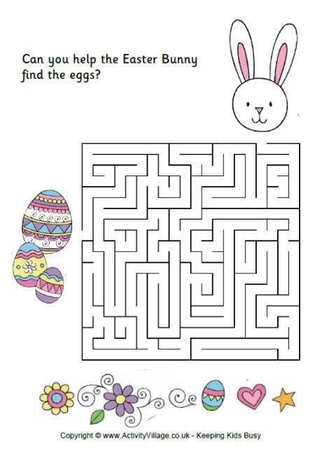 Easter Activity Sheets | feladatalapok | Pinterest | Preescolar