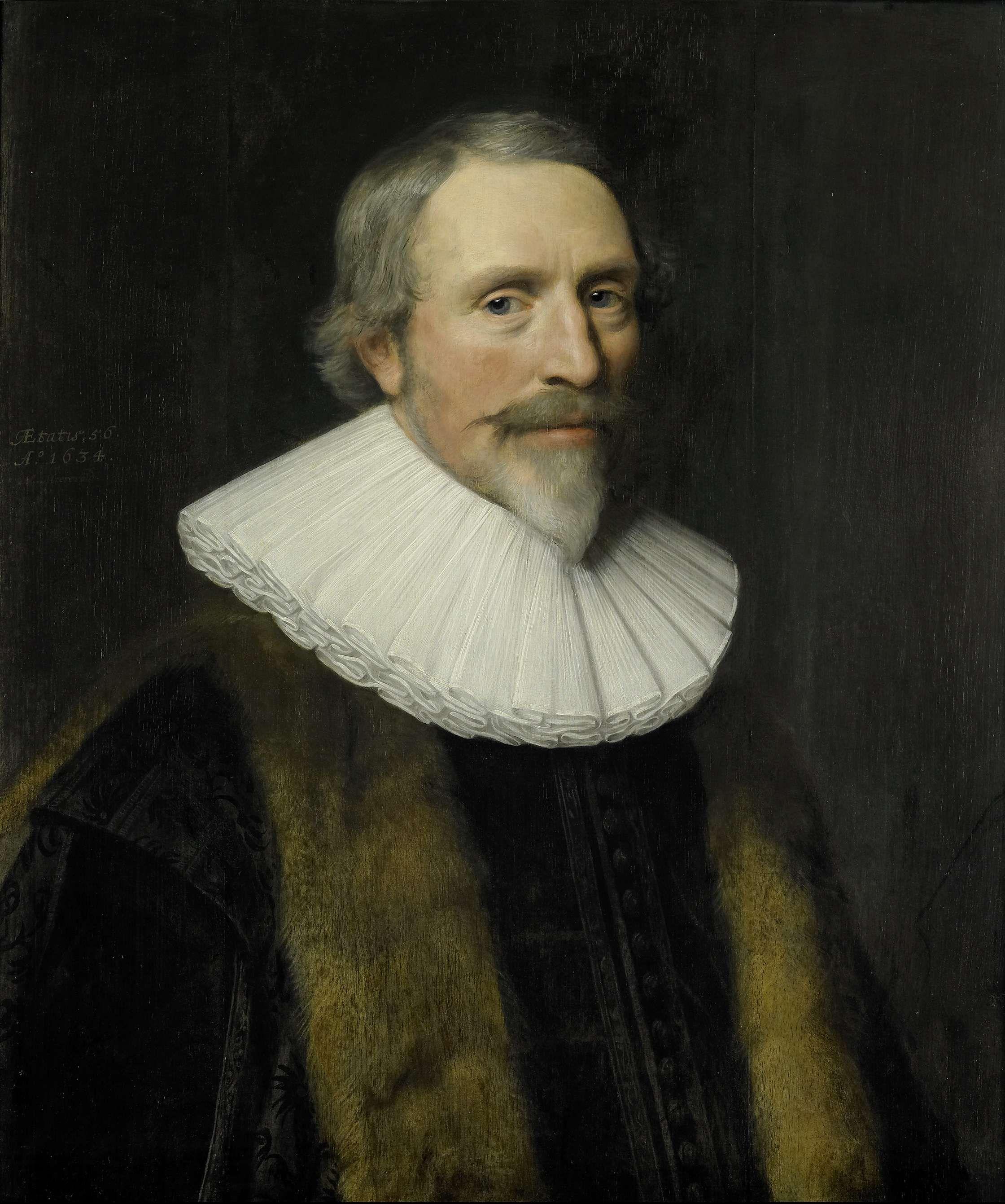 1634 - Mierevelt, Michiel van - Portret van Jacob Cats (1577-1660)  pensionaris van Dordrecht en dichter - oil on panel  68x58 cm - Rijksmuseum, Amsterdam