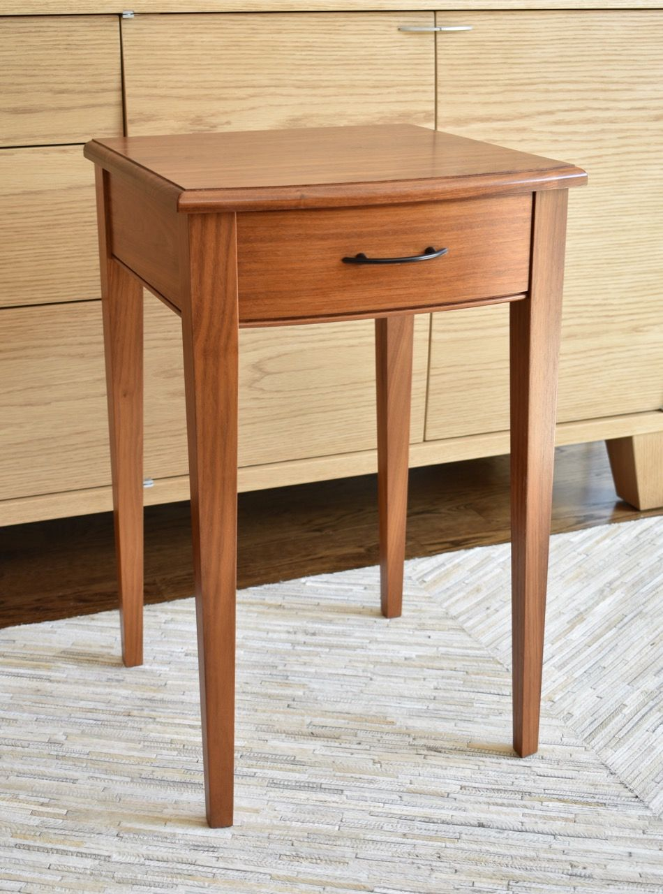 Black Metal Bedside Tables: Modern Side Table By Schick Furniture. This Table Works