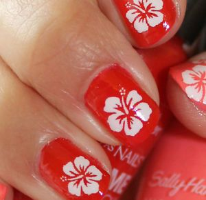 Hawaiian Nail Art Google Search Hawaiian Nails Hawaiian Nail Art Beach Nail Designs