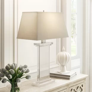 Crystal Table Lamps You Ll Love In 2020 Wayfair In 2020 Chandelier Table Lamp Table Lamp Drum Shade Table Lamp