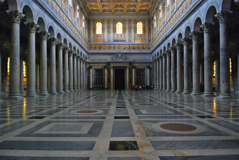 The Papal Basilica Of St Paul Outside The Walls Basilica Papale Di San Paolo Fuori Le Mura Rome Italy Rome Sites Architecture Rome