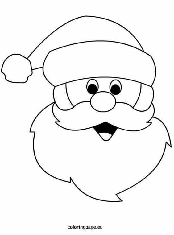 Pin By Elize B On Kids Craft Santa Coloring Pages Christmas