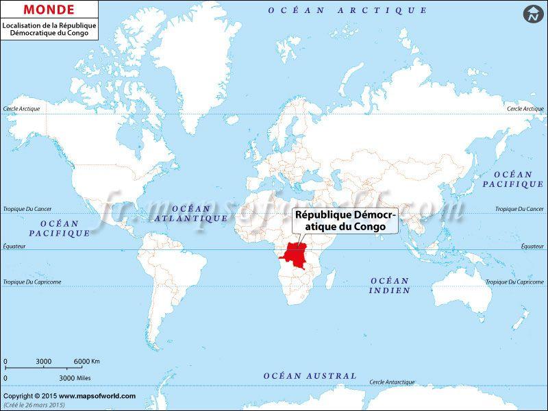 république démocratique du congo carte Où est la République démocratique du Congo (With images