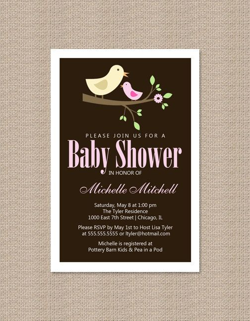 Baby Bird Shower Invitations Choice Image baby shower invitations