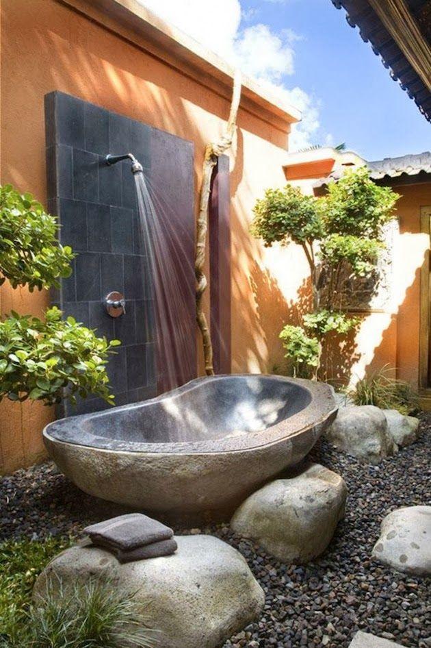 Fábrica de Idéias - Tudo em Paisagismo e Decoração: Banheiros Ao Ar Livre - Puro Charme
