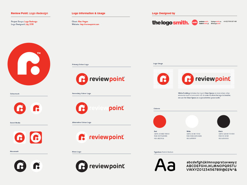 Review Point Logo Usage Guidelines Template For Download Logo Branding Identity Guideline Template Logo Guidelines