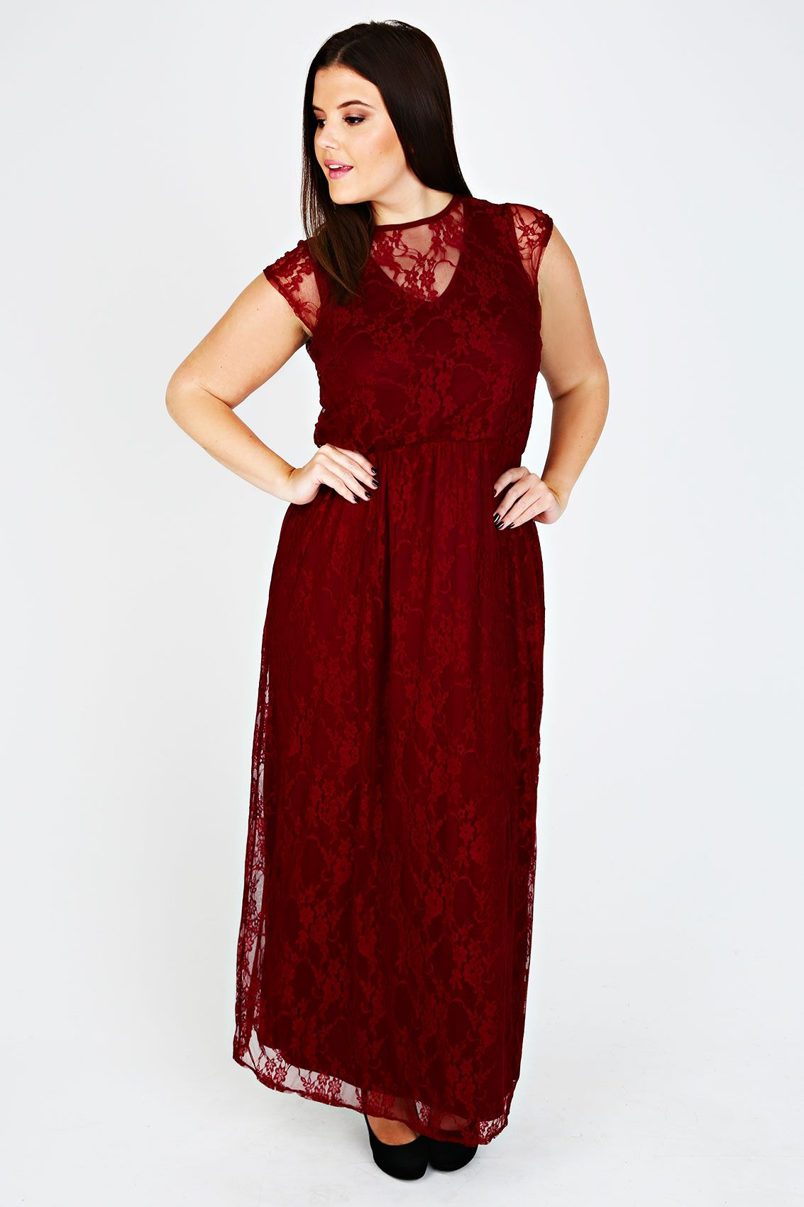 Christmas Ball Gowns Plus Size.Wine Maxi Dress With Lace Overlay 29 B Day Plus Size
