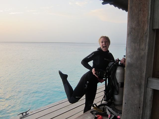 Night diving off divi flamingo beach resort sdg stephanie diving diving wetsuits scuba diving - Dive e divi ...