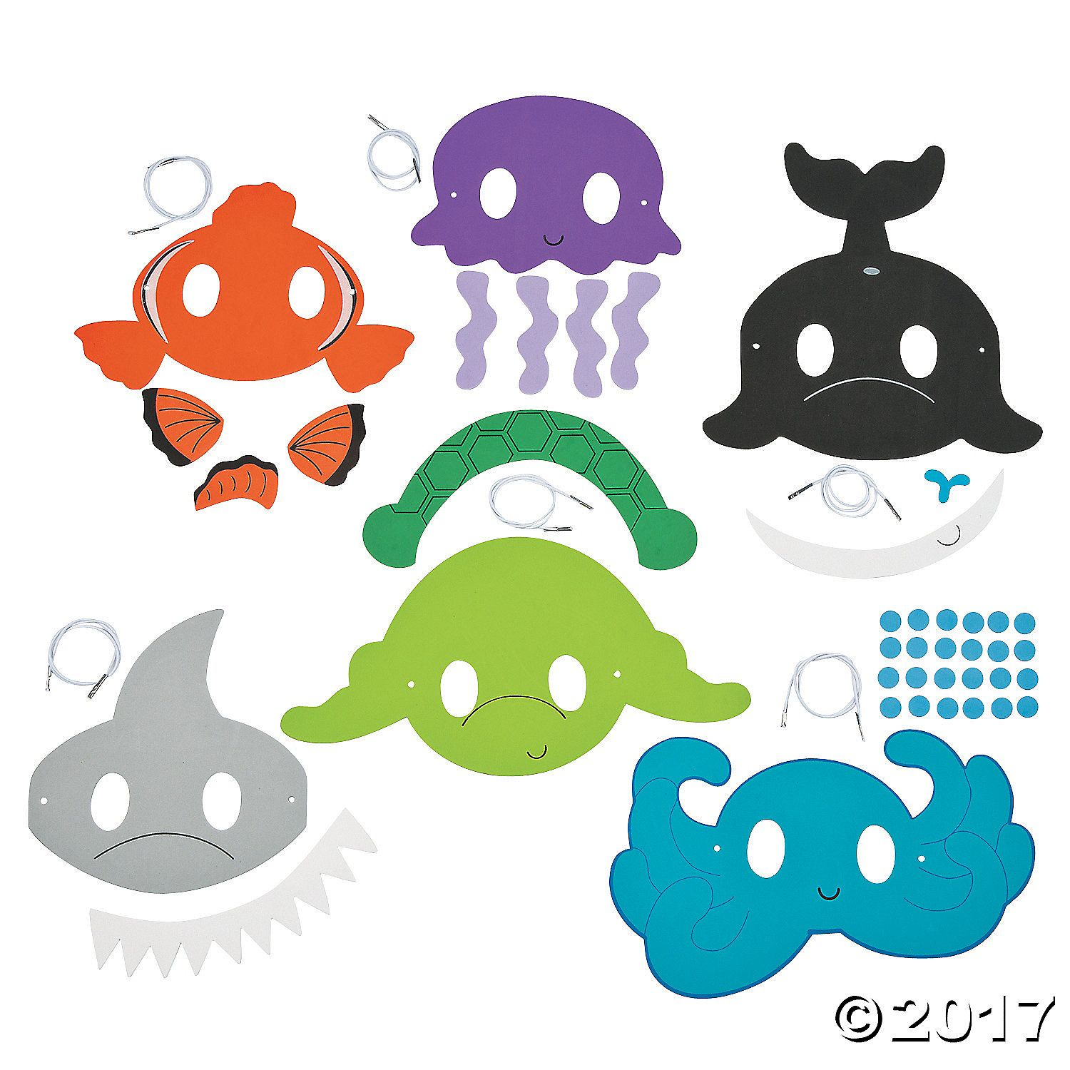 Our Ocean Animal Mask Craft Kit for kids is a perfect party activity ...