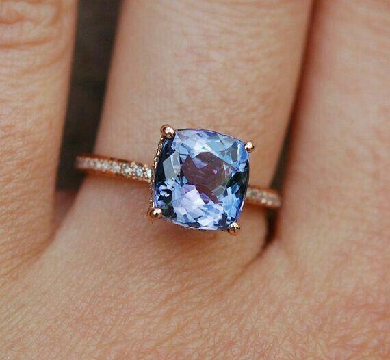 3 Stone Princess Cut Anniversary Rings