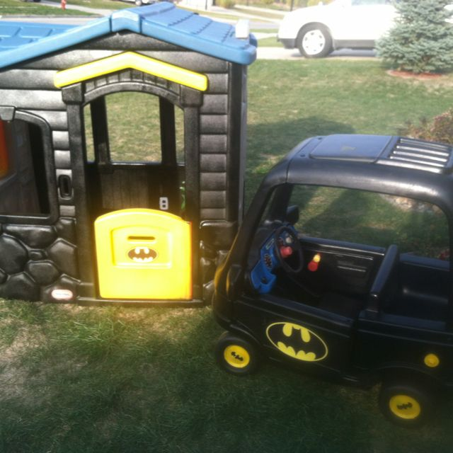 Batmobile And Bat Cave Kids Indoor Playhouse Kids Ride On Toys