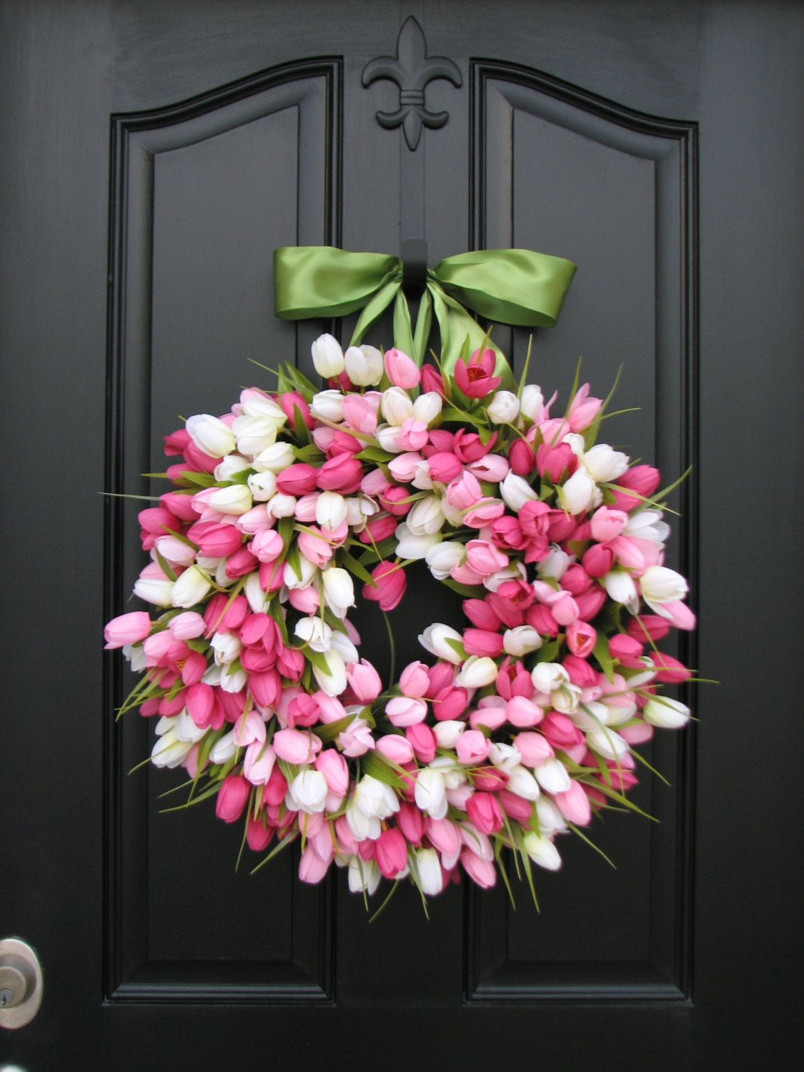 40 Beautiful Easter Wreath Ideas You Must Try Front Door
