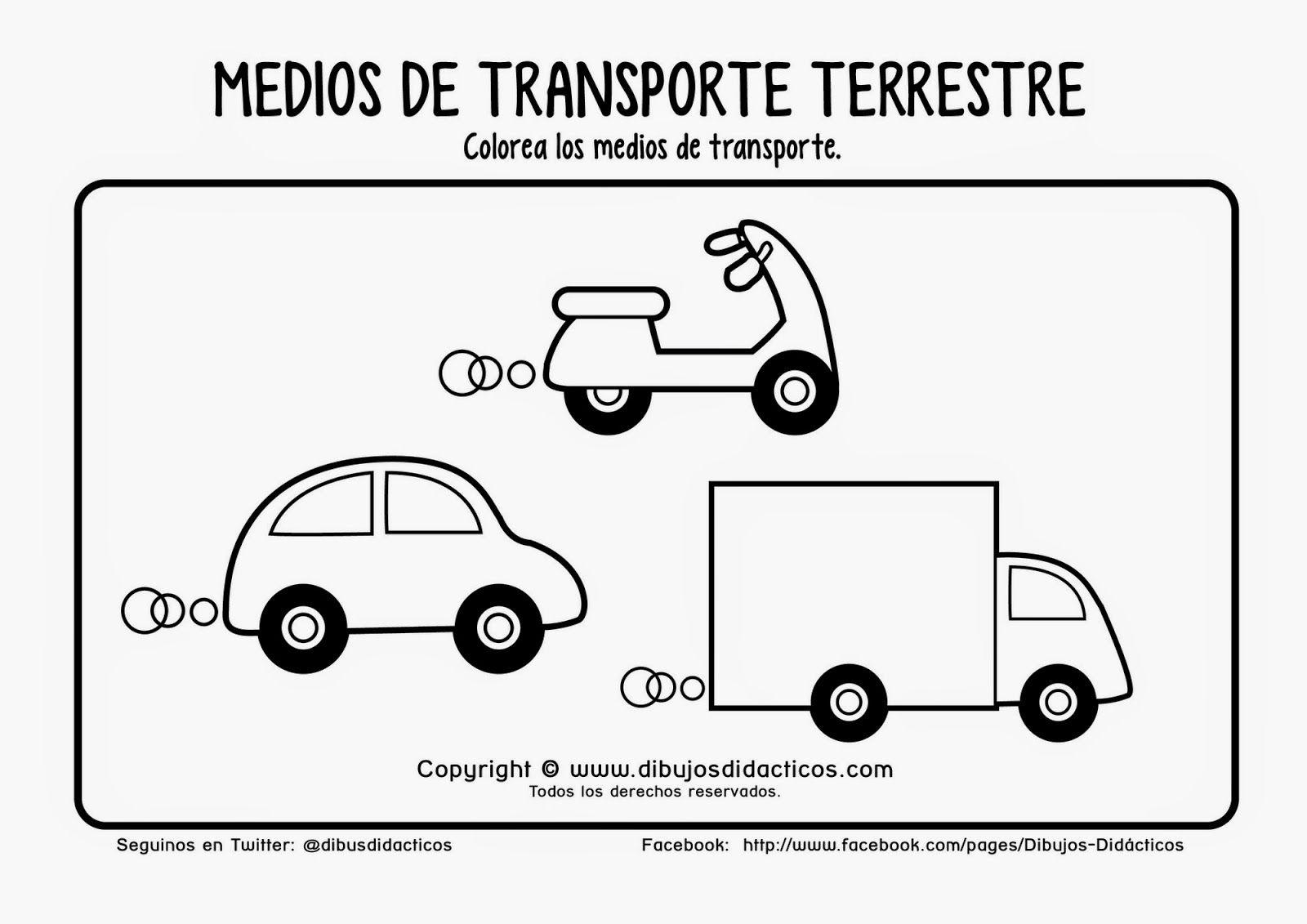 Dibujo Colorear Medios De Transporte Dibujos Didacticos 04 20130121 1404806094 Jpg 1600 1131 Transporte Preescolar Transporte Medios De Transporte