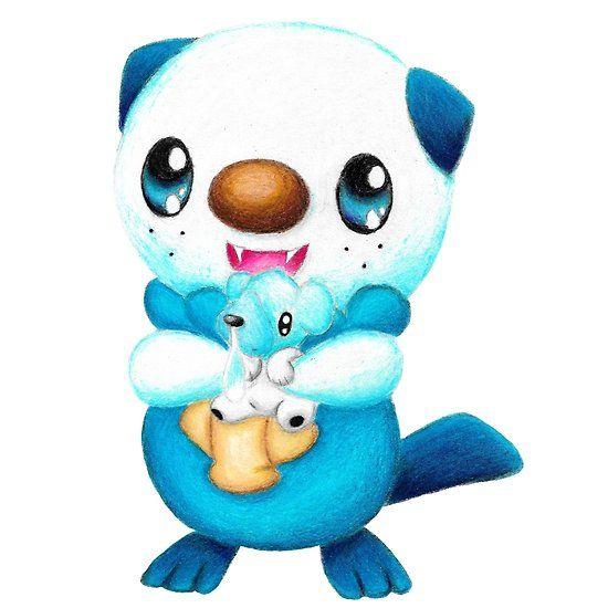 Oshawott and Cubchoo #pokemon