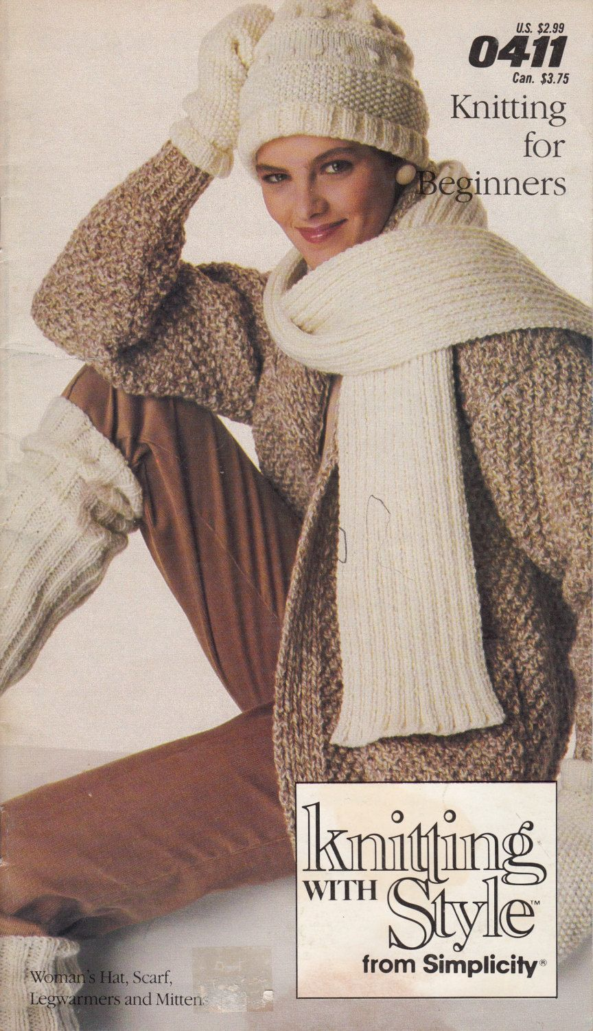 Simplicity Knitting With Style Knitting Pattern Book - Sweater ...