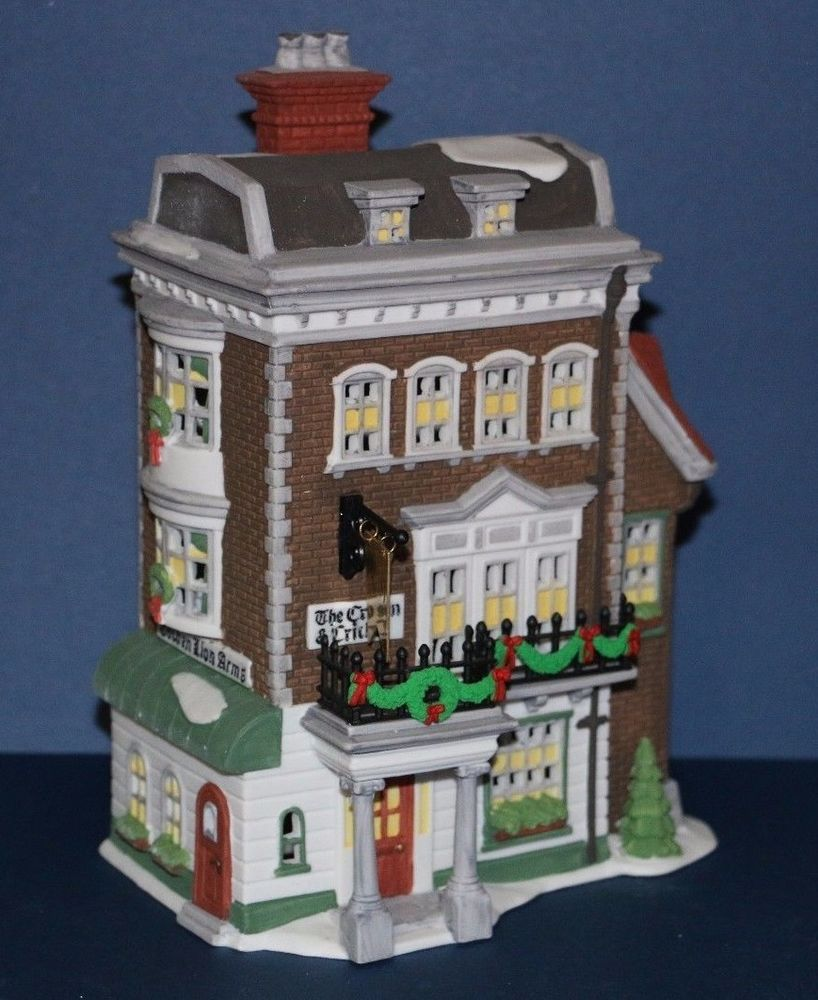 Dept 56 Dickens Village Series Crown Cricket Inn Porcelain Building 57509 Babescollectibles With Images Department 56 Ebay Collectibles