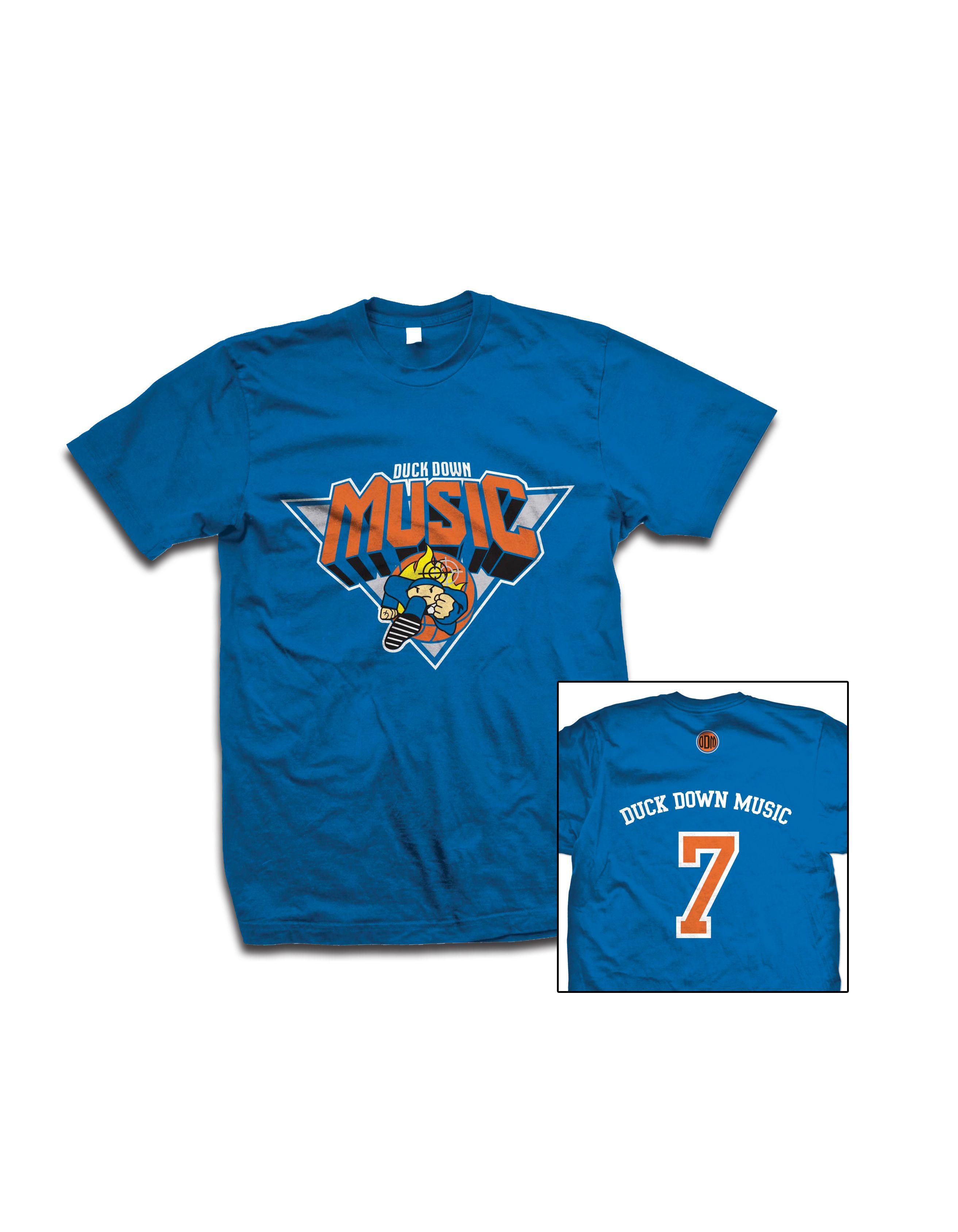 buy online 06845 636cb Duck Down New York Knicks Inspired T-Shirt Blue & Orange ...