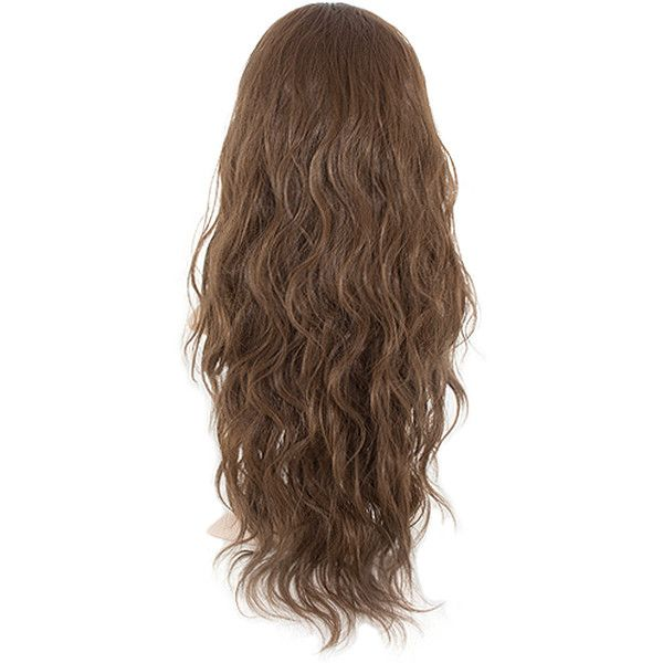 Grace Long Curly Half-Head Wig In #8 chestnut ($37) ❤ liked on Polyvore featuring beauty products, haircare, hair styling tools, hair and curly hair care