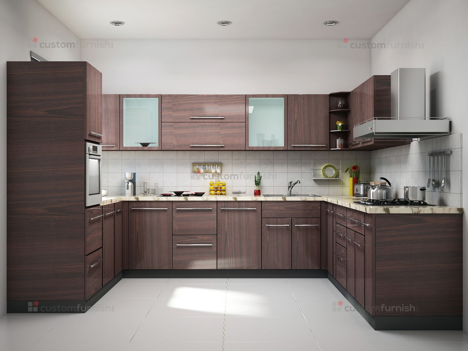 Best Brown U Shaped Kitchen Design Kitchen Furniture Design 400 x 300