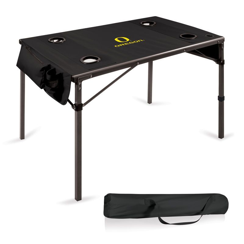 Oregon Ducks Portable Folding Travel Table - Black