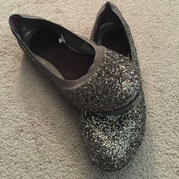 e69062b6d Silver glitter ballet flats 10 Worn one time..super cute! Shoes ...