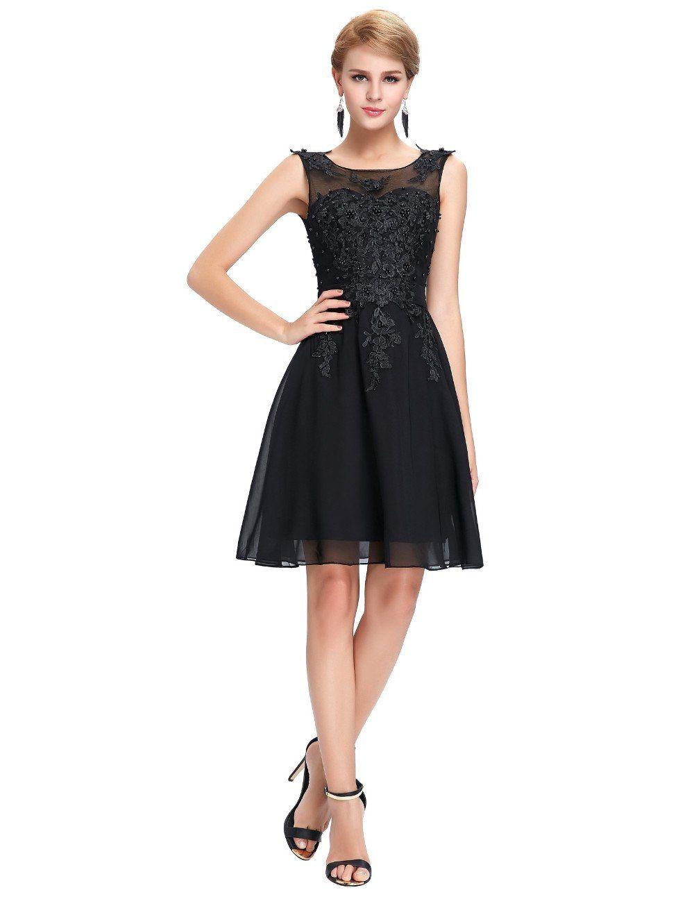 Grace karin short prom dress o neck sexy chiffon sleeveless
