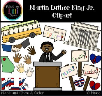 Martin Luther King Jr Clipart Tpt Teacher Blogs Group Board