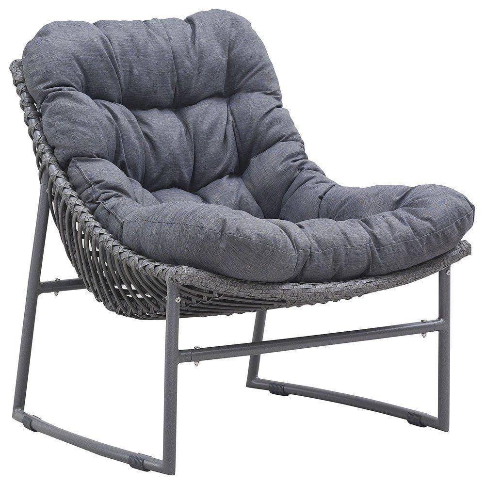 Grey Modern Outdoor Sling Chair   Set Of 2