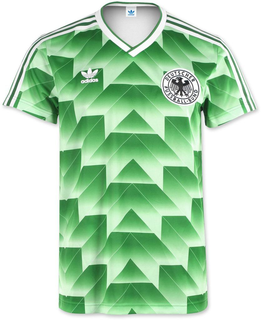 cc16e92f6 West Germany 1988-1990 Retro Away Green Soccer Jersey Shirt ...