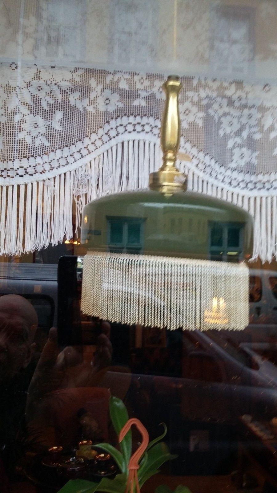 Fabelaktig FINN – Vintage lampe grønn m frynser | Huset Fredrikstad | Vintage FX-32