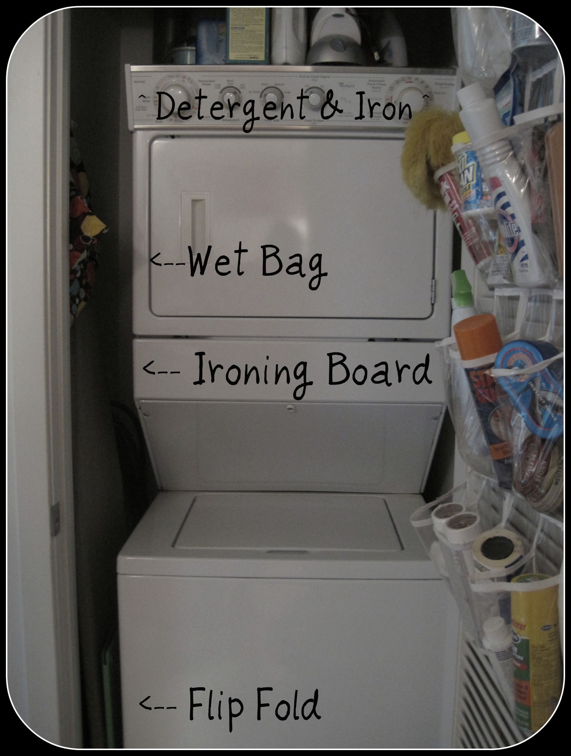laundry organization for a small laundry closet! | organizing tips
