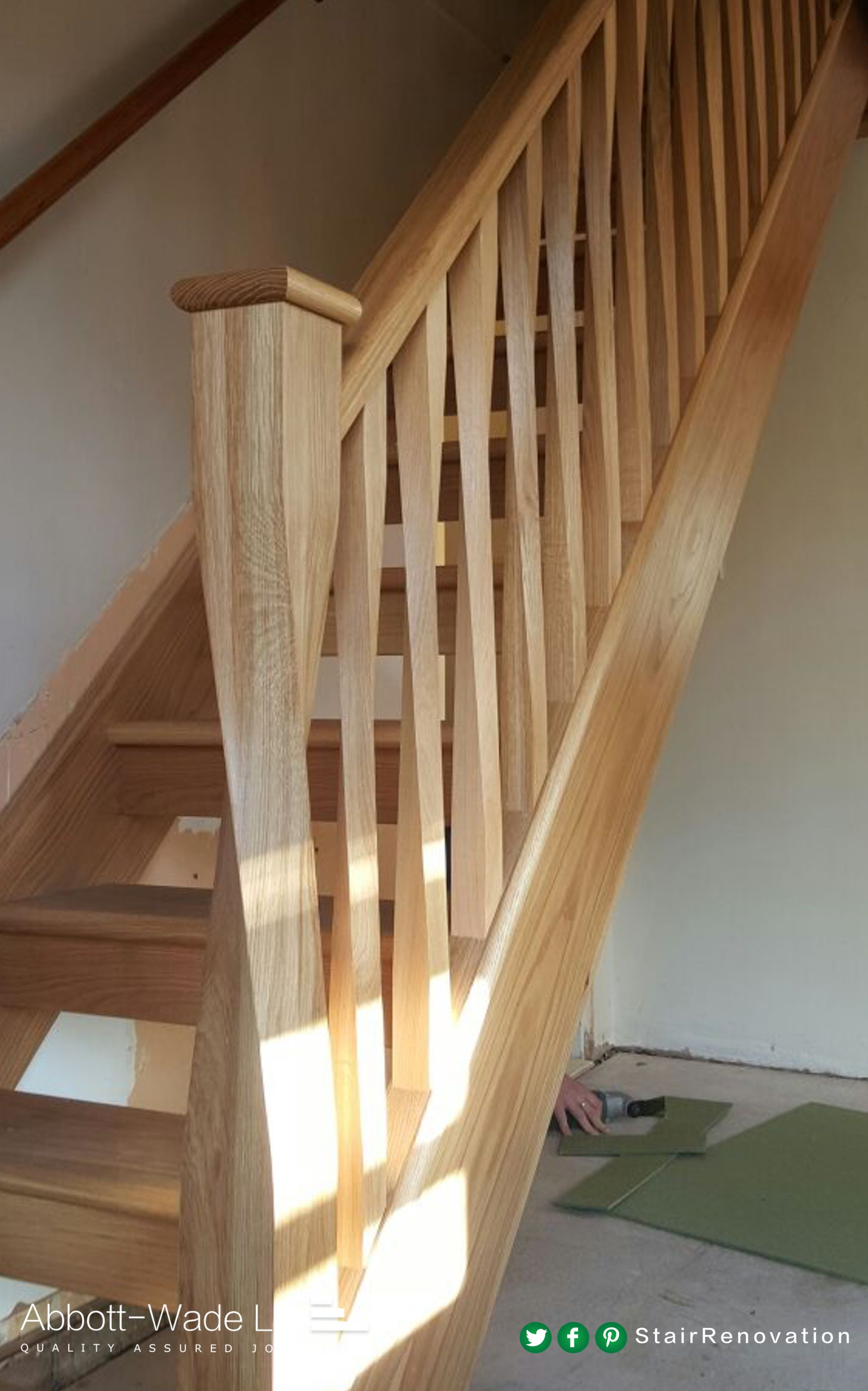 Best Abbott Wade S Twisted Oak Newel Spindles Stairs Design 640 x 480