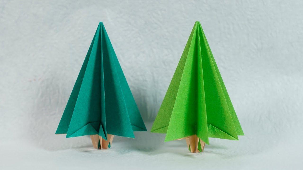 Easy Origami Christmas Tree Tutorial Henry Phạm Origami Christmas Tree Christmas Origami Origami Christmas Ornament