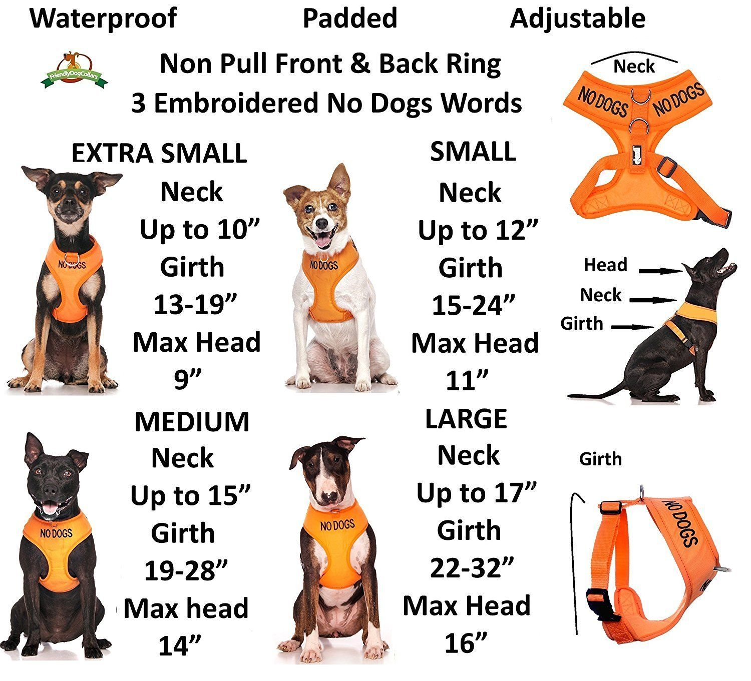 No Dogs Not Good With Other Dogs Orange Color Coded Non Pull