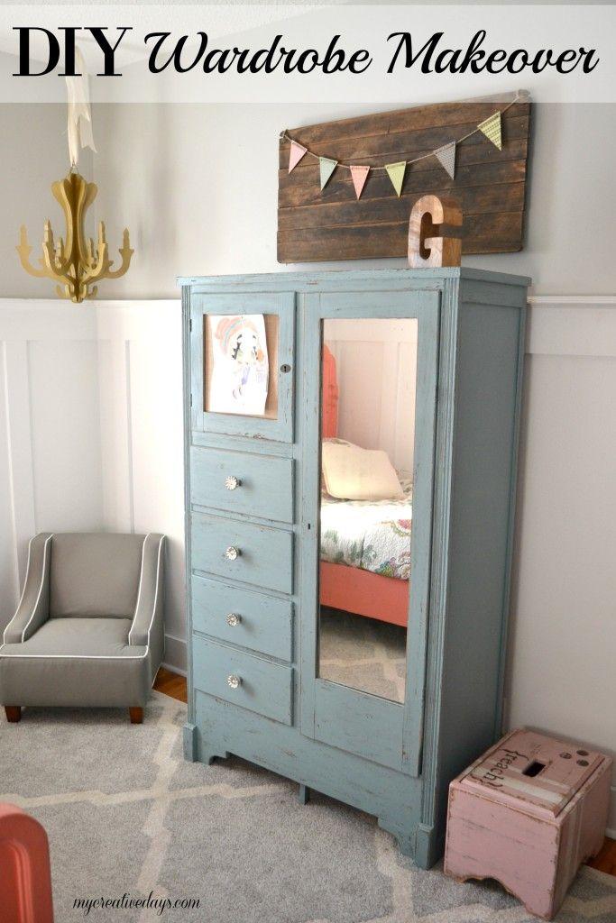 Diy Mirrored Dresser Makeover Diy Wardrobe Armoire