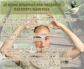 40 Home remedies for treating baldness/hair fall