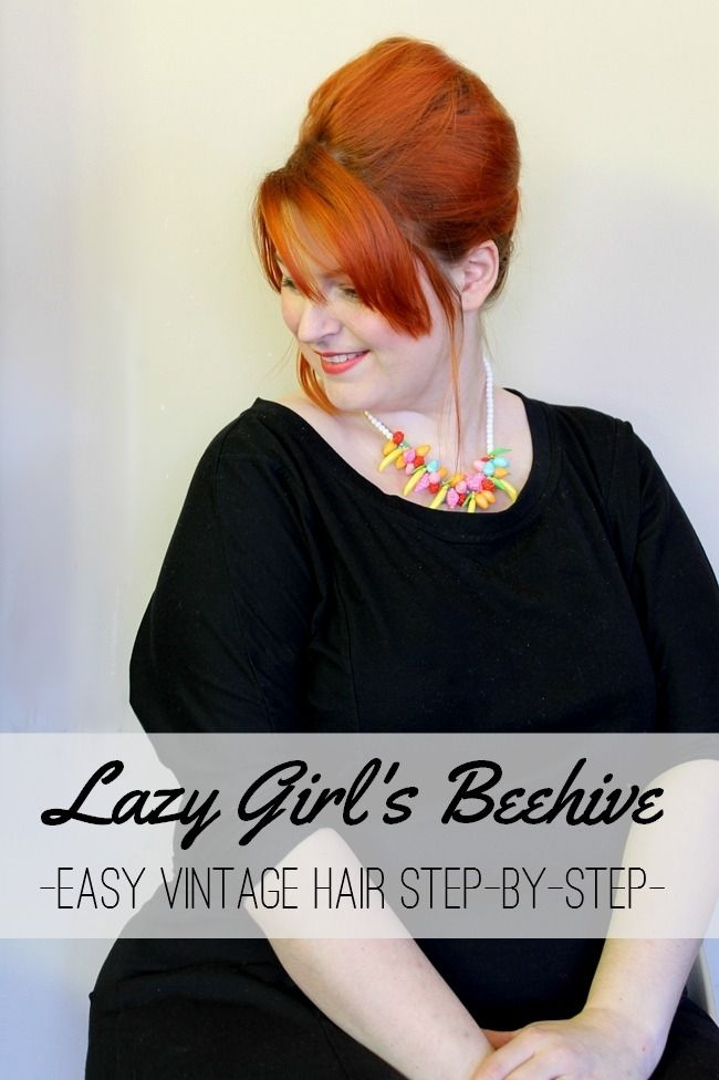 Easy And Quick Lazy Day Vintage Beehive Retro Hair Style Tutorial Womens Hairstyles Retro Hairstyles Vintage Hairstyles