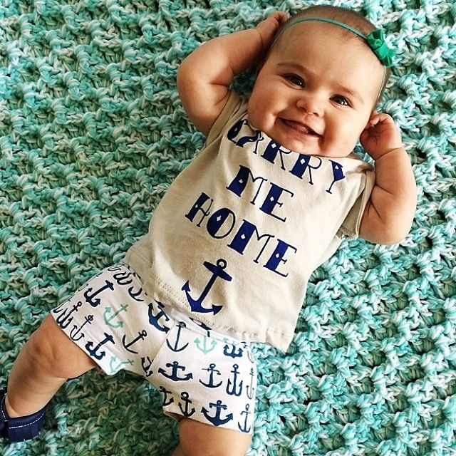 9a2c0d904 anchor baby shorts! | little ones // baby. | Baby, Baby swag ...