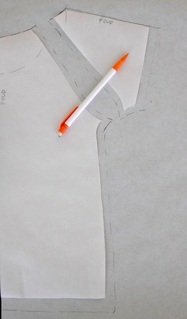 Como trazar el patrón y coser una manga raglan en cualquier talla ...