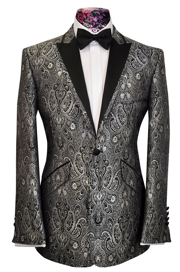 The Ashmore Silver Regency Brocade | William Hunt Savile Row ...